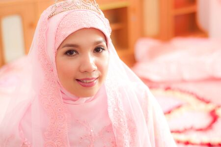 asian thai attractive muslim women in wedding suit
