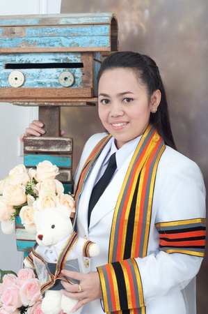 asian thai attractive Graduate female student photo