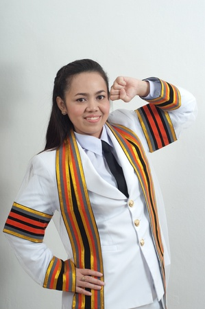 asian thai attractive Graduate female student photo