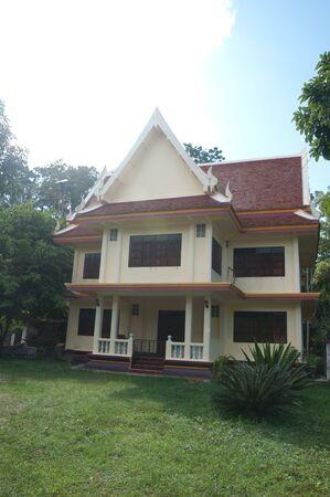 pattani thailand: Templo tailand�s en Pattani, Tailandia Foto de archivo