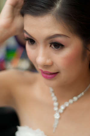 asian attractive young Bride photo