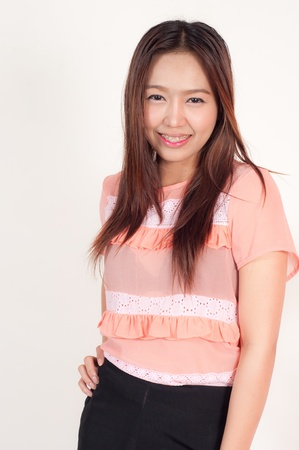 thai teen: smiling asian attractive woman Stock Photo