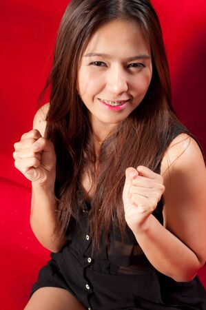 asian attractive woman - happy concept photo