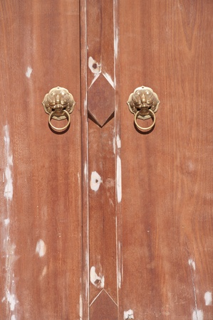 chinese lion head door knocker photo