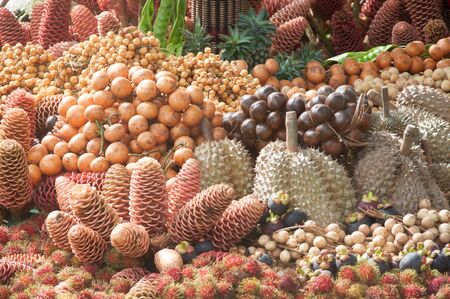 large group of fruits Stock Photo