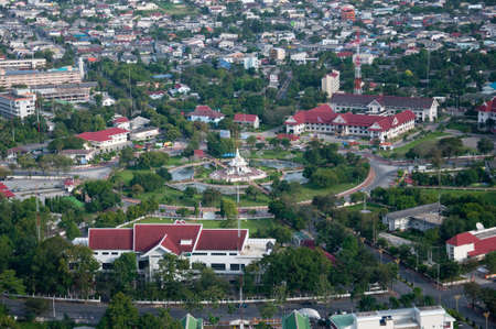 yala city pillar, thailand - bird eyes view photo