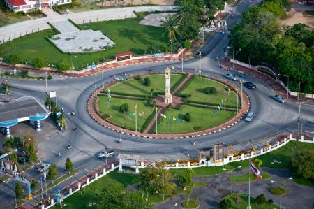 yala: clock tower circle of yala city, thailand Stock Photo
