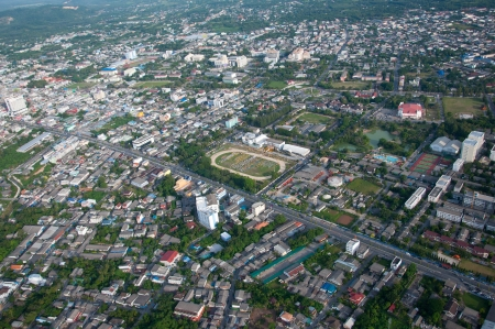 cityscape of yala city, thailand - aerial view photo