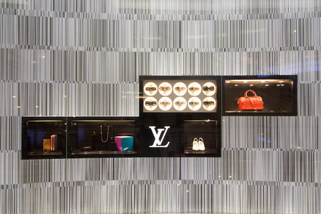 KUALA LUMPUR, MALAYSIA - SEP 27  LOUIS VUITTON shop in Suria Shopping Mall on September 27, 2013 in Kuala Lumpur, Malaysia  Suria KLCC is the luxury shopping locate at lower floor of Petronas Towers  Editorial