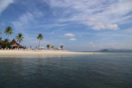Nice Vacation on the beach at Mook Island Andaman Sea in Trang, Thailand