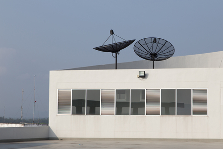 recieve: Satellite Disc on rooftop of the Building, Satellite Disc use for recieve signal and communication