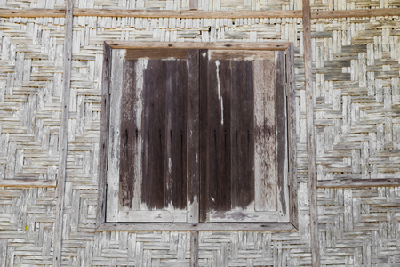 basketry: Wood Windows and brown wood basketry weave