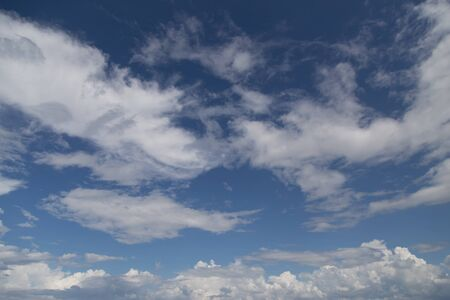 Beautiful Blue sky with cloud Stock Photo