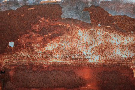 Rusty metal iron of car background texture