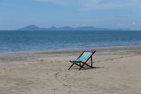 Seat for relax and sunbath on the beach at Koh-Sukorn in Trang, Thailand Stock Photo