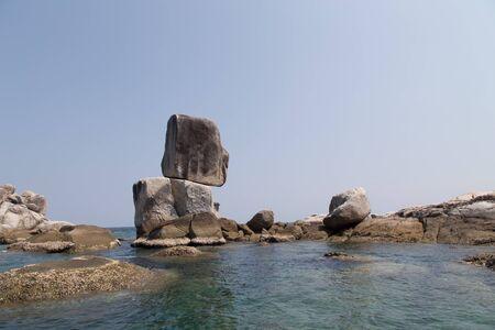 overlap pile up Stone at Hin-Son Island near lipe island of Andaman Sea in Satun of Thailand