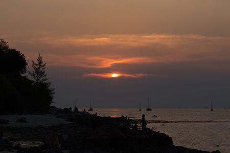 Beautiful sunset at Koh Lipe Island of Andaman sea in Satun, Thailand
