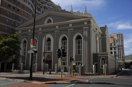 Groote Kerk  translation  Great Church  in the main street of Cape Town, South Africa, instead of damaging history, developers build the adjacent building around it