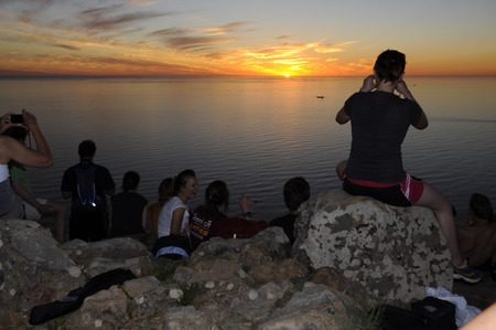 every full moon, locals and tourists gather on top of Lions head to watch sunset and moon rise