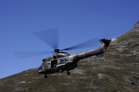 South African Airforce helicopter training in the mountains Editorial