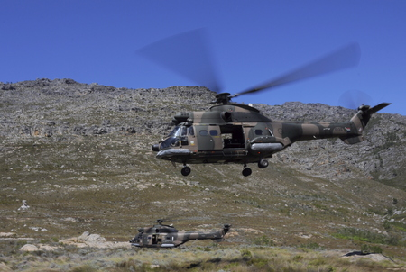 South African Airforce Oryx Helicopter mountain flying training Editorial
