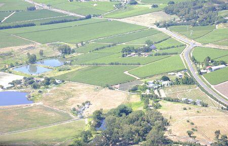 the winelands outside Stellenbosch, Western Cape South Africa Stock Photo