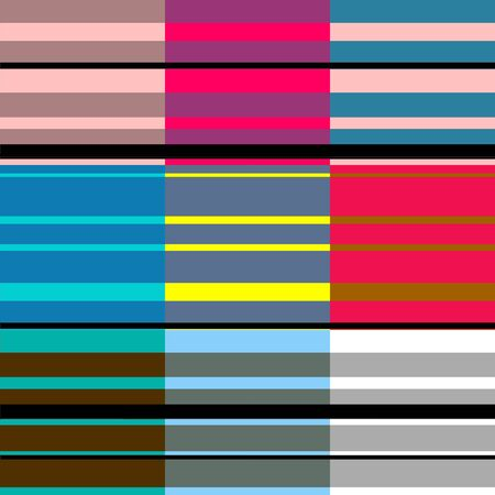 argyles: Retro Colorful Stripes Pattern 4 Stock Photo