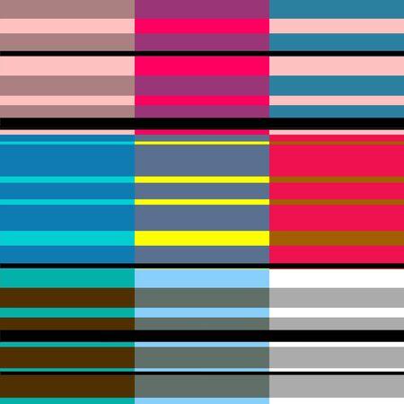 retros: Retro Colorful Stripes Pattern 4 Stock Photo