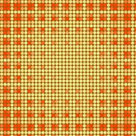 argyles: Vintage Orange, Yellow Techno Dots Pattern Background