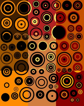 Vintage Brown, Red, Yellow, Black Fifties Abstract Art Background photo