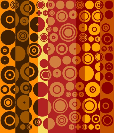 Vintage Brown, Red, Yellow Fifties Abstract Art Background Stock Photo