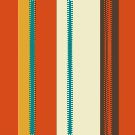 Retro Zigzag Colorful Chevron Striped Pattern