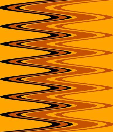 Black and Yellow Rainbow Abstract Retro Art Deco photo