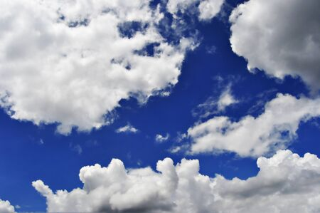 Clouds in a blue sky photo