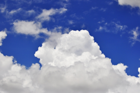Blue sky with white clouds on a sunny day photo