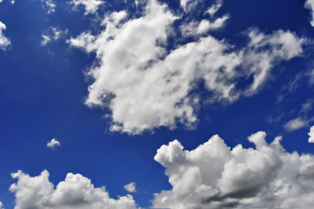 blue sky and cloud photo