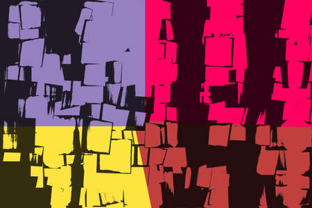 Retro Colorful Abstract Art  3