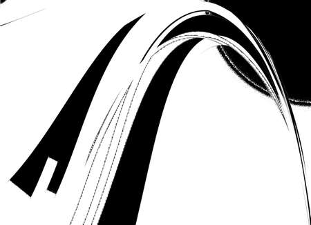 Retro Black and White Abstract Art Deco Stock Photo