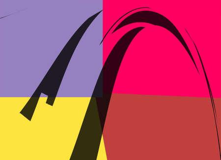 Retro Colorful Abstract Art Deco 8 photo