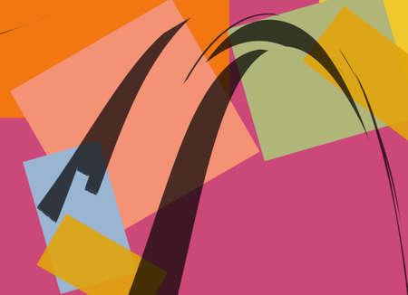 Retro Colorful Abstract Art Deco 19 photo