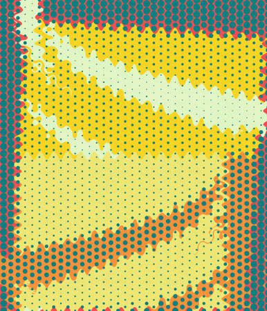 Retro Colorful Dots Abstract Art Deco photo