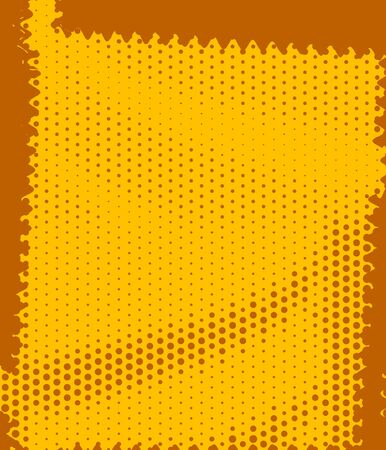 Yellow Retro Dots Abstract Art Deco Stock Photo