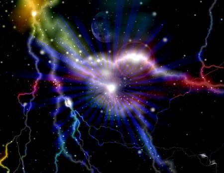 Galaxy Lightning Fantasy Art Design Abstract photo