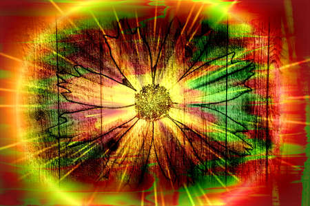 Colorful Fantasy Flower Art Design Abstract 3 photo