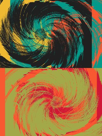 colorfuls: Colorful Vintage Flower Art Design Abstract