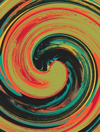 retros: Colorful Retro Swirl Art Design Abstract Stock Photo