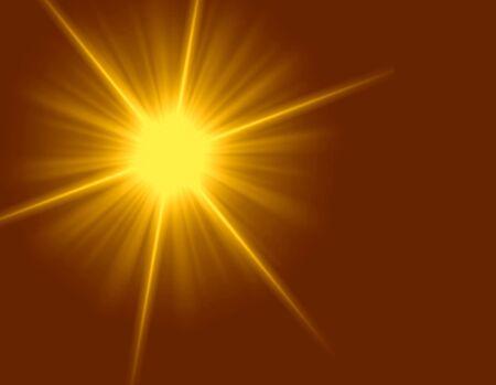 Yellow Star Light Art Design Abstract Background