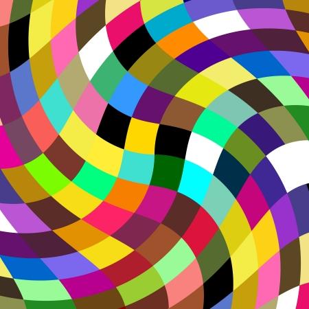 多色鏈鏈接的鑲嵌藝術設計摘要 版權商用圖片