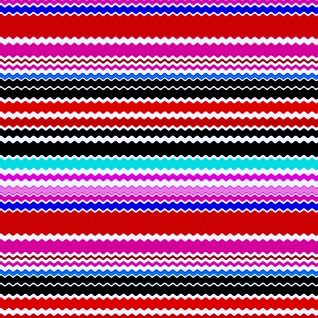 Chevron Multi Colored Zigzag Stripes Art Design Stock Photo - 14112019