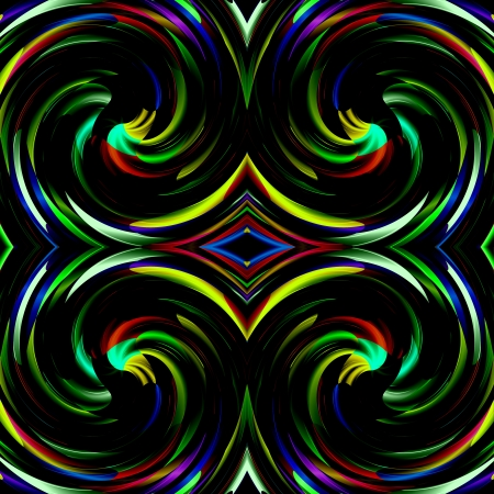 Colorful Rainbow Damasks Retro Art Design Abstract photo
